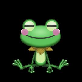 おすわりカエル1
