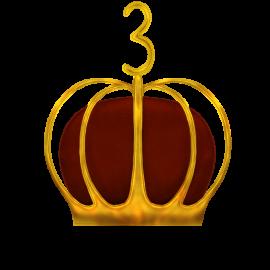 クラウン-3飾り付き