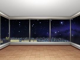 マンションからの夜空