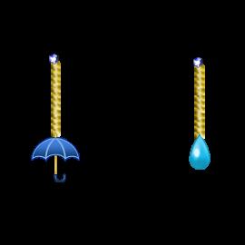 雨の日ピアス