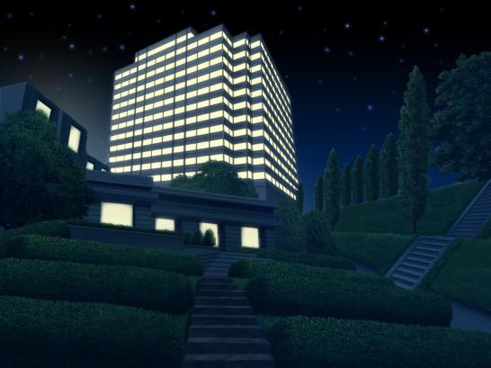 ステーションビル_夜