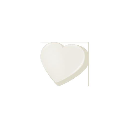 ホワイトハートチョコ