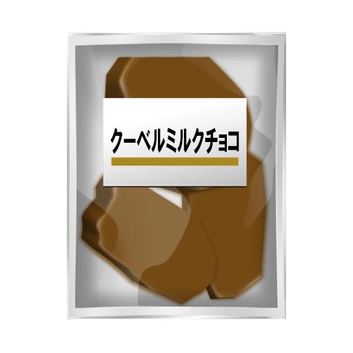 割れチョコミルク
