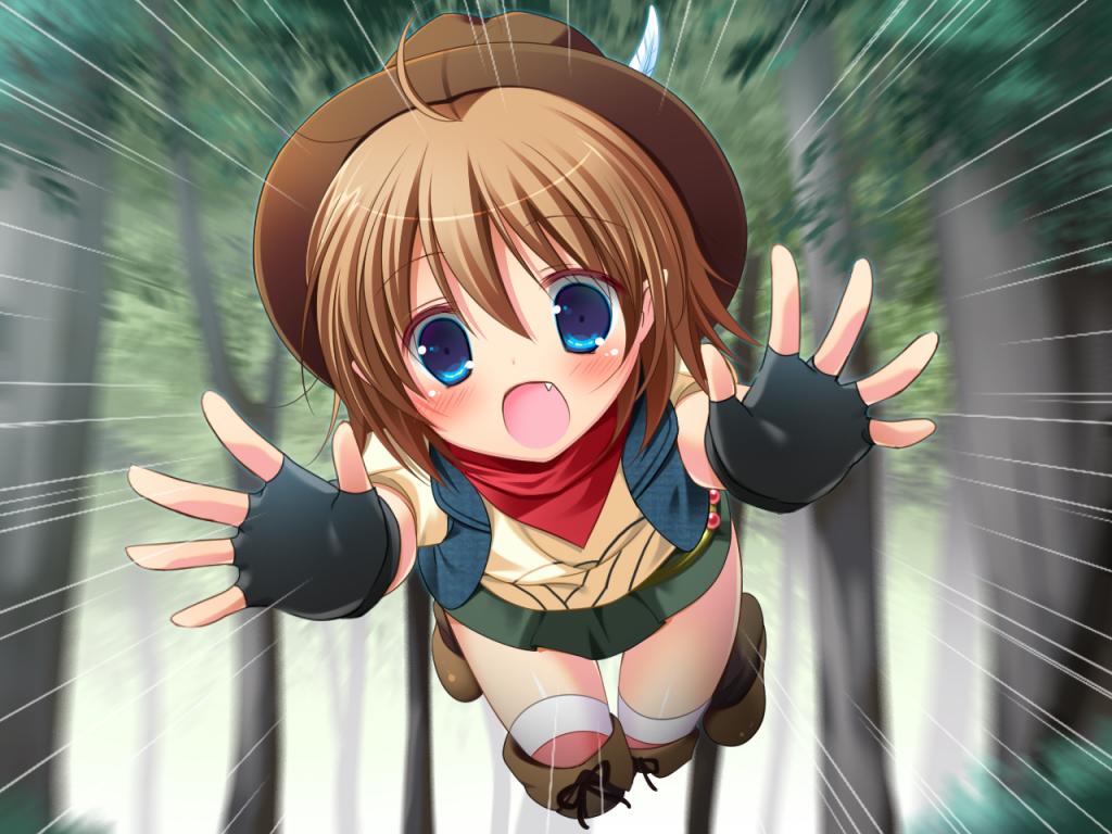 森からすすきが飛び出して来た!どうする?!