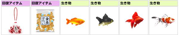 金魚すくいで手に入るアイテム